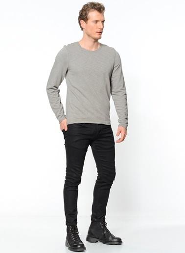Kaft Uzun Kollu Sweatshirt Gri